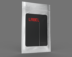 adobe 3D Metallized zip package with labels