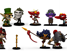Chibi Legends expansion 1 HEROES 3D print model