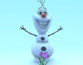 Frozen Snowman 3D asset