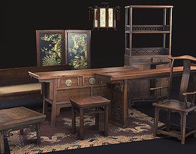 Antique Chinese Furniture 3D model