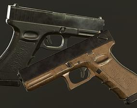 Glock 18 PBR 3D model low-poly