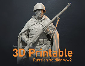 3D print model RUSSIAN SOLDIER WW2 16 SCALE