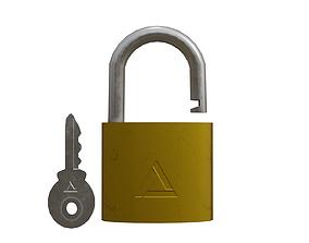 locks Padlock 3D asset realtime