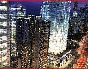 3D model Modern City Animated 003