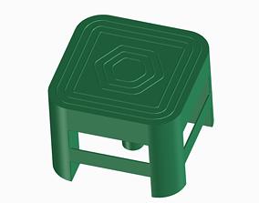 Backrest Stool 3D printable model