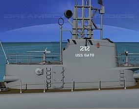 3D Submarine SS-212 USS Gato