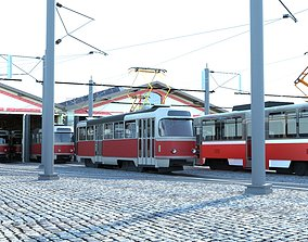 3D Tram depot Stresovice - collection - Prague Czech