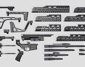 3D asset Sig Sauer MCX Virtus Assault Rifle