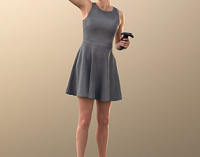 10012 Ina - Woman In Summer Dress With VR 3D model 2