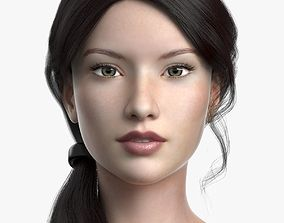 Cinderella 3D asset low-poly