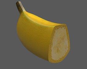 Banana half 3D asset