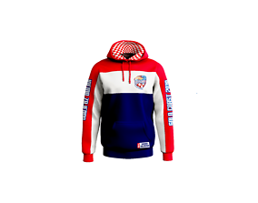 3D model Hoodie with colored stripes obj marvelous 2