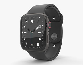 3D model Apple Watch Series 5 44mm Space Black Titanium 2