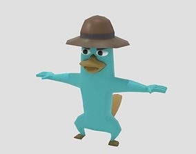 3D model Platypus Perry LowPoly Rigged