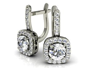 classic earrings with diamonds 3D printable model