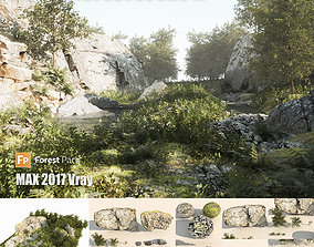 Rocky forest scene A 3D