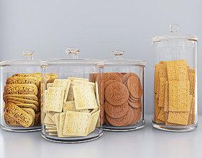 Dry biscuit jars 3D