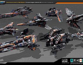 Spaceships Vol-12 3D asset VR / AR ready