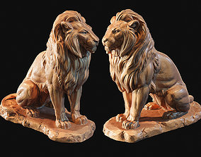 3D printable model Lion sitting on a stone