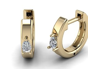 Jewelry Earrings 3x2 Pear 3D printable model