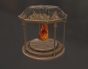 bower fire 3D asset