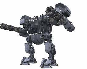 3D Battle mech robot piston 3B