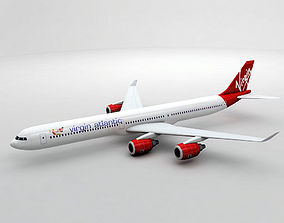 3D model Airbus A340-600 - Virgin Atlantic