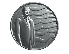 The Donald Trump Coin 3D print model