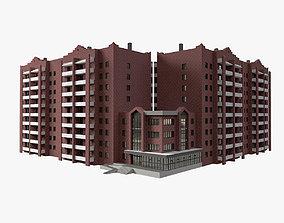 3D Residential European Brick House