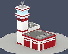 3D asset Low Poly Fire Department