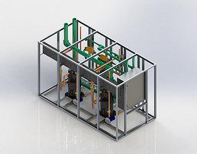 Custom designed water chiller 3D