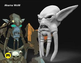 Akama mask WoW 3D printable model