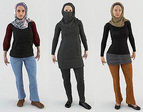 Arab Women Pack 3D model animated