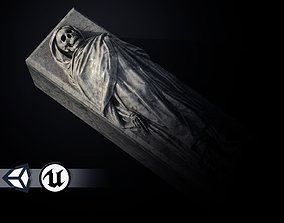 Tomb - Skeleton Sarcophagus - PBR and Game 3D asset
