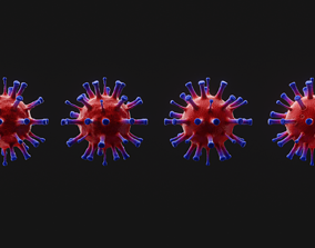 3D Coronavirus covid 19 sars cov 2 3d model game-ready