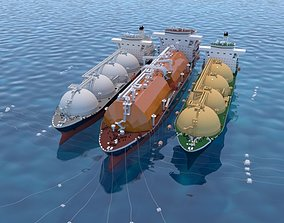 3D Floating gas storage with the Tanker ships
