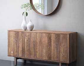 IKEA STOCKHOLM Sideboard and mirror 3D