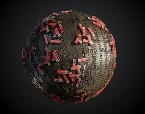 3D model Metal Shotgun Shells Seamless PBR Texture