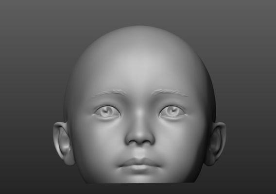 Children mannequin  head