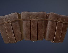 German WW1 Ammo Pouches game-ready asset game-ready