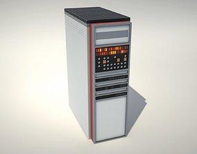 3D model Vintage Mainframe Computer - Electronic Data