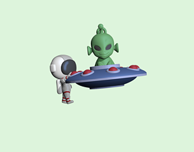 3D printable model A cute UFO Astronaut to decorate and