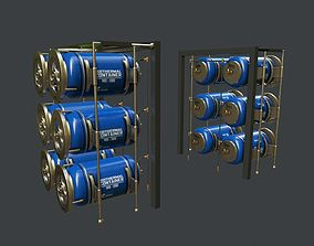 3D model game-ready Chemical Container 2