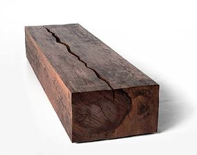 Rectangular Log Coffee Table 3D model