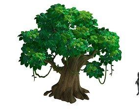 Cartoon forest - big tree 01 3D model