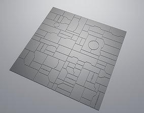 3D asset Sci-fi panel