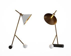 Modern desk lamp writing 3D model