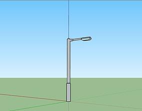 3D asset Basic Street Light - Lampost
