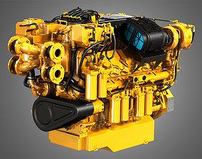 3D C32 Acert Engine - V12 Industrial Diesel Engine