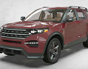 3D model Ford Explorer 2020 lowpoly concept